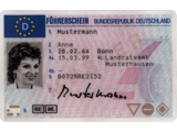 Vorderseite Führerschein