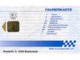 Rückseite EG-Fahrerkarte