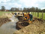 Baumaßnahmen im Rahmen der Gewässerrenaturierung
