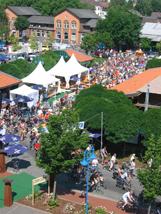 Eine aktive Region - Radsportveranstaltung im Rahmen eines Volksfestes
