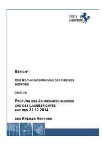 Prüfbericht des Jahresabschlusses des Kreises Herford Teil 1 bis einschließlich Finanzrechnung