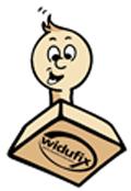 Widufix -Maskottchen mit Logo